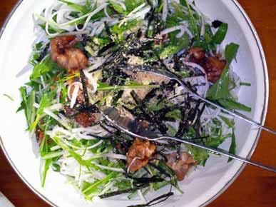 豚肉の竜田揚げサラダ