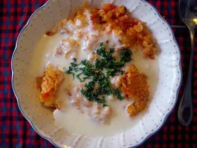 牛乳と冷ご飯でアララブランチ